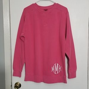 Marley Lily oversized pink long sleeve sweat shirt